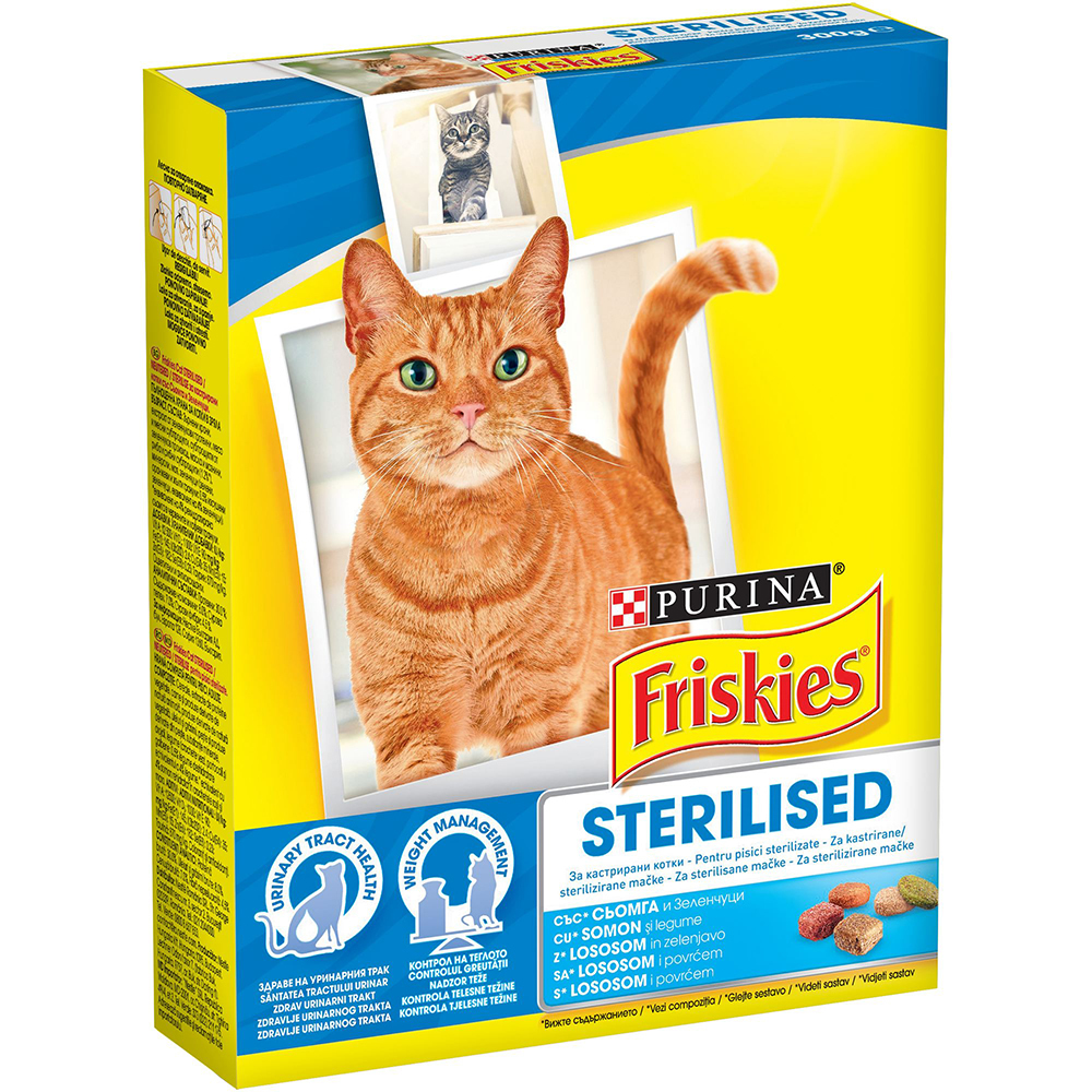 Friskies Sterilised cu somon, 300g