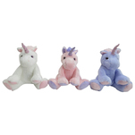 One Two Fun - Unicorn de plus cu sclipici 26 cm, diverse modele