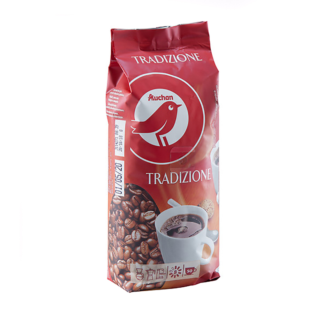 Cafea Auchan boabe traditie 250 g
