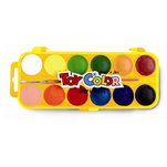 Acuarele Toy Color, 12 culori/set + penar