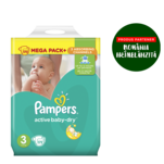 Pampers Active Baby-Dry Marimea 3, 172 scutece