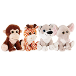 One Two Fun - Animalut de plus cu ochi sclipiciosi 28 cm, diverse modele
