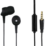 Casti Hama Basic negre in ear cu microfon