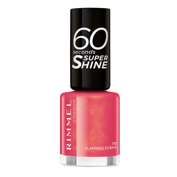 Lac de unghii Rimmel 60 Seconds Super Shine 717 Flamingo Fushia