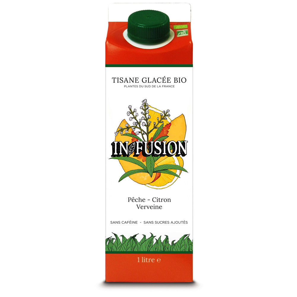 Ice tea Bio din fructe concentrate si verbena In Fusion 1L