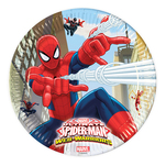 Spiderman 8 farfurii din carton 23 cm