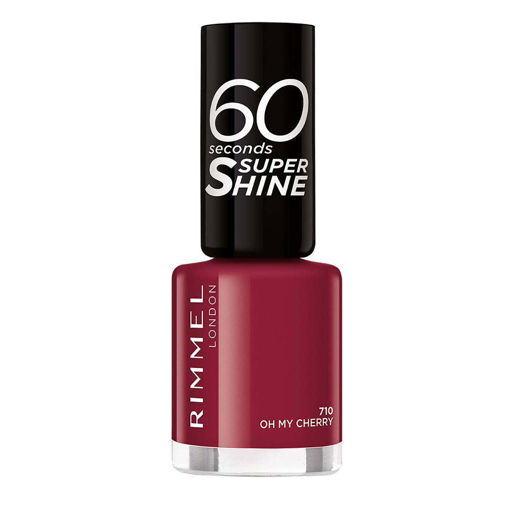 Lac de unghii Rimmel 60 Seconds Super Shine 710 Oh My Cherry