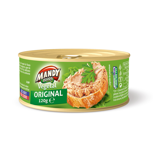 Pate vegetal Mandy original 120 g
