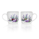 Set 2 cani din ceramica, décor lavanda, 630 ml