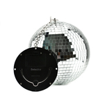 Glob disco Selecline cu diametrul de 8 inch si LED-uri multicolore