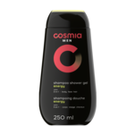 Gel de dus 3 in 1 Cosmia Men Energy pentru corp si par 250ml