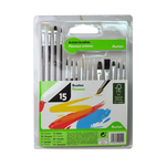 Set pensule pictura Auchan, 16 piese