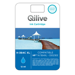 Cartus albastru Qilive 12ml compatibil HP 364XL Cyan