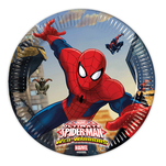 Spiderman 8 farfurii din carton 20 cm