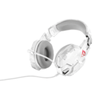 Casti gaming Trust GXT322C white camouflage over the ear cu microfon flexibil