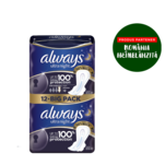 Absorbante Always Ultra Night Assym Duo Pack 12 bucati