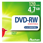Pachet 5 DVD-uri reinscriptibile 4.7GB in carcasa slim Auchan