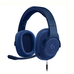 Casti gaming cu fir Logitech G433 over the ear, albastre