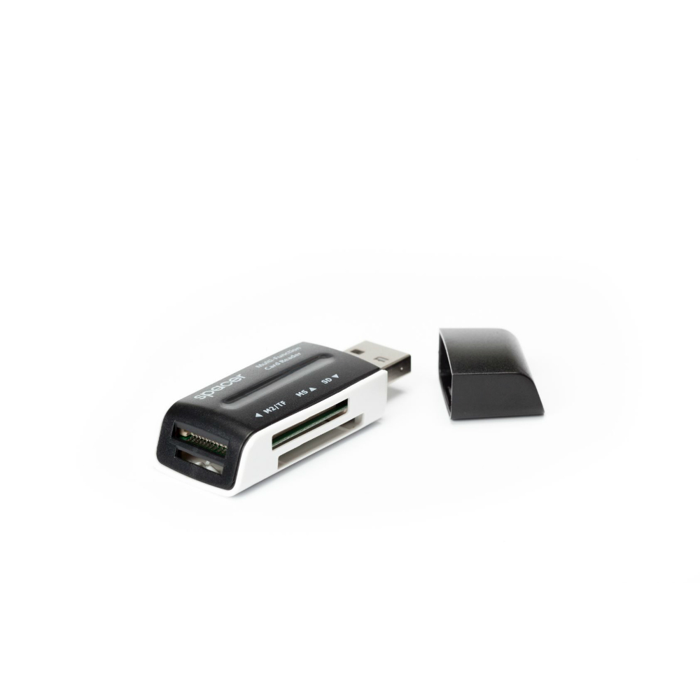 Card reader extern 46 in 1 Spacer SPCR-658 cu conector USB