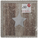 Set de 50 de servetele Actuel North Star cu 2 straturi 33 x 33 cm