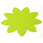 Placemat decorativ in forma de floare, fetru verde