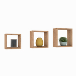 Set de 3 cuburi decorative Casa Rusu A458, culoare nature