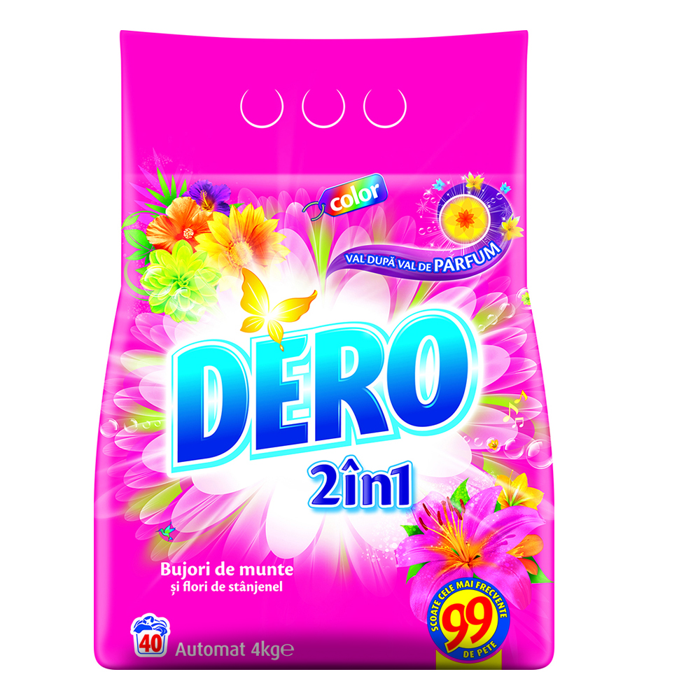 Detergent Dero automat 2 in 1 color 4 kg