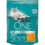 Purina ONE Adult cu pui si cereale integrale, 200g