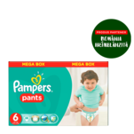 Scutece Pampers Pants Nr. 6 Mega Box Extra Large, 88 bucati