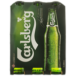 Pachet 6 sticle bere blonda Carlsberg 0.33L