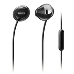 Casti in ear Philips SHE4205BK negre cu microfon pe fir