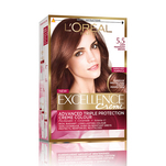Vopsea de par permanenta L'Oreal Excellence Creme 5.5 Light Mahogany Brown