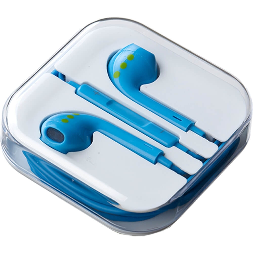 Casti handsfree ABC Tech albastre in ear cu mufa jack