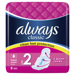 Absorbante Always Classic Long, 9 bucati