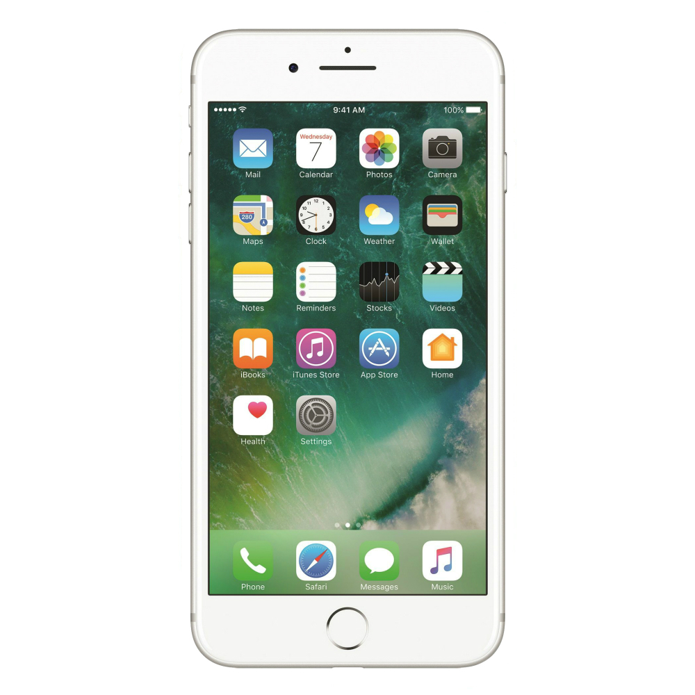 Telefon mobil Apple iPhone 7 Plus argintiu cu camera duala si memorie de 128GB