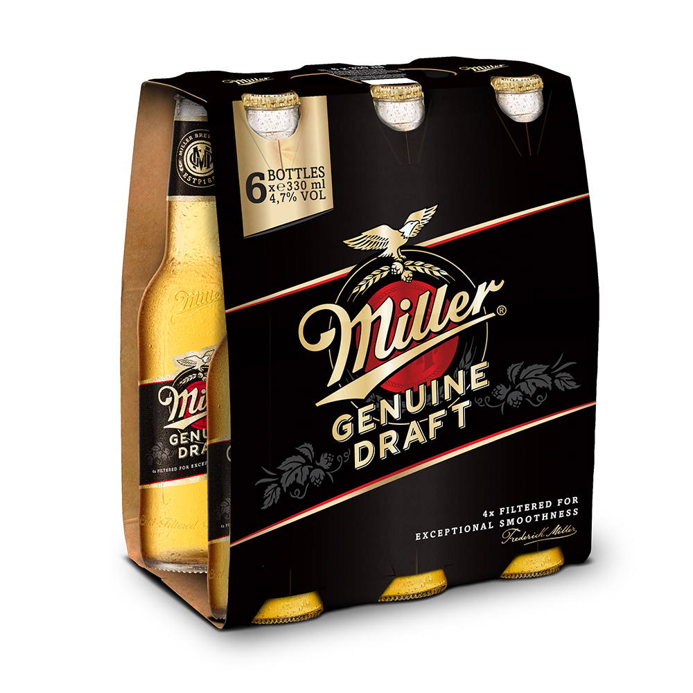 Bere blonda Miller Genuine Draft, 6 x 0.33 l
