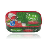 Sardine in sos de rosii John West, 120 g