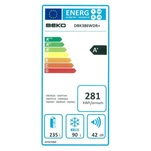 Combina frigorifica Beko DBK386WDR+ cu functia Active Fresh Blue Light