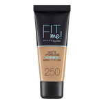 Fond de ten matifiant Maybelline New York Fit Me Matte & Poreless 250 Sun Beige, 30ml