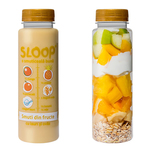 Suc natural Sloop Smoothie de iaurt, ovaz, mango si ananas, 250 ml