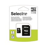 Card de memorie microSDHC cu capacitate de 8GB si adaptor SD