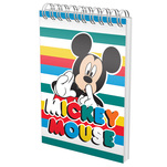 Bloc Notes Pigna spira cu 70 de file A6, model Mickey Mouse, matematica
