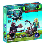 Set Playmobil Dragons III - Hiccup, Astrid si pui de dragon