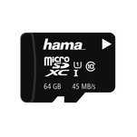 Card de memorie microSDXC Hama Memory Plus 64GB cu adaptor SD