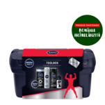 Set cadou Nivea Men Toolbox cu gel de ras, crema, roll-on, gel de dus si sampon