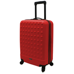 Troler rigid Airport Basic rosu cu volum de 31L si maner fix