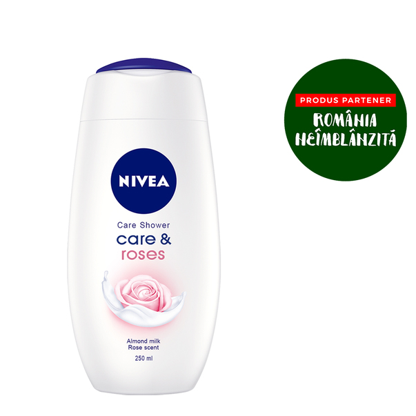 Gel de dus Care & Roses Nivea, 250 ml