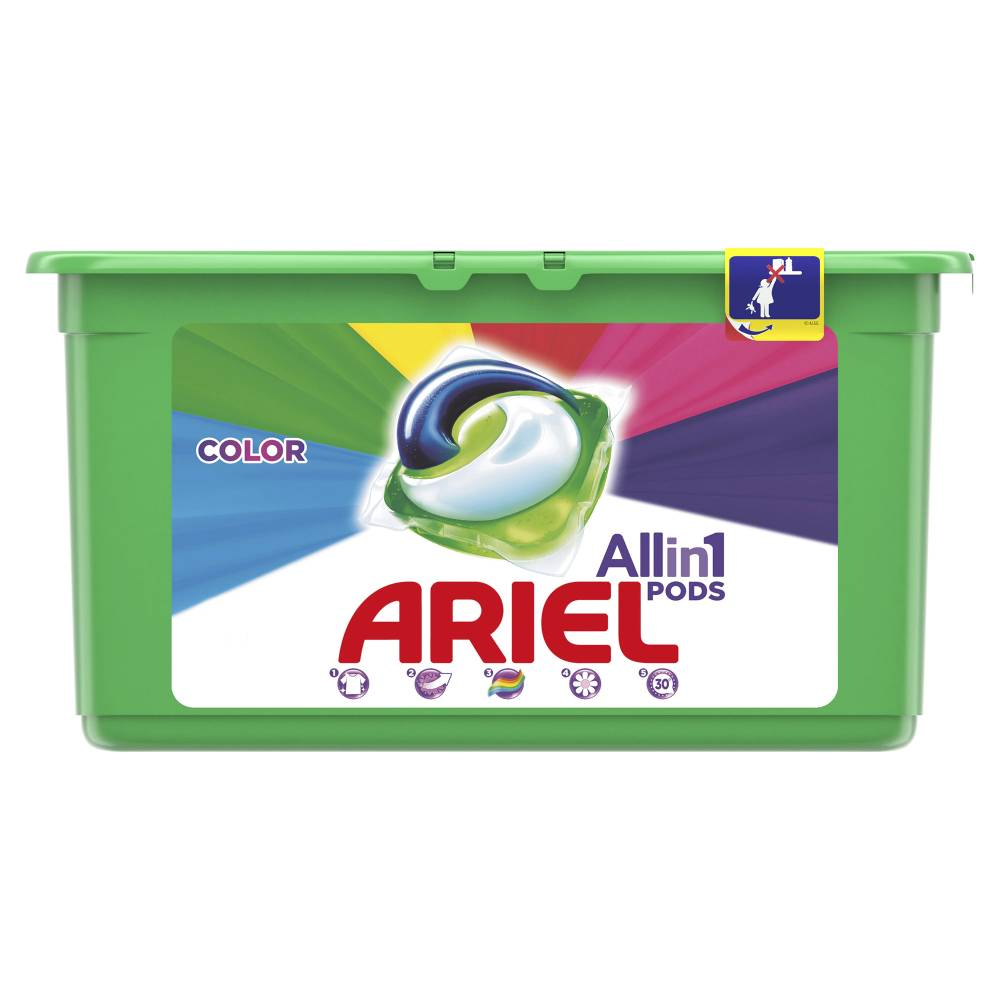 Detergent capsule Ariel 3 in 1 Pods, Color, 54 spalari