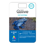 Cartus tricolor Qilive 21ml compatibil HP 302XL Colour