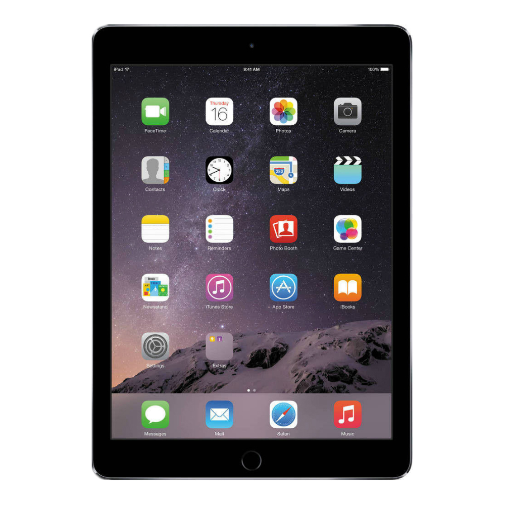 Tableta Apple iPad Air 2 cenusie Wi-Fi cu ecran de 9.7 inch si memorie de 16GB